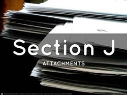 Section J. List of Attachments